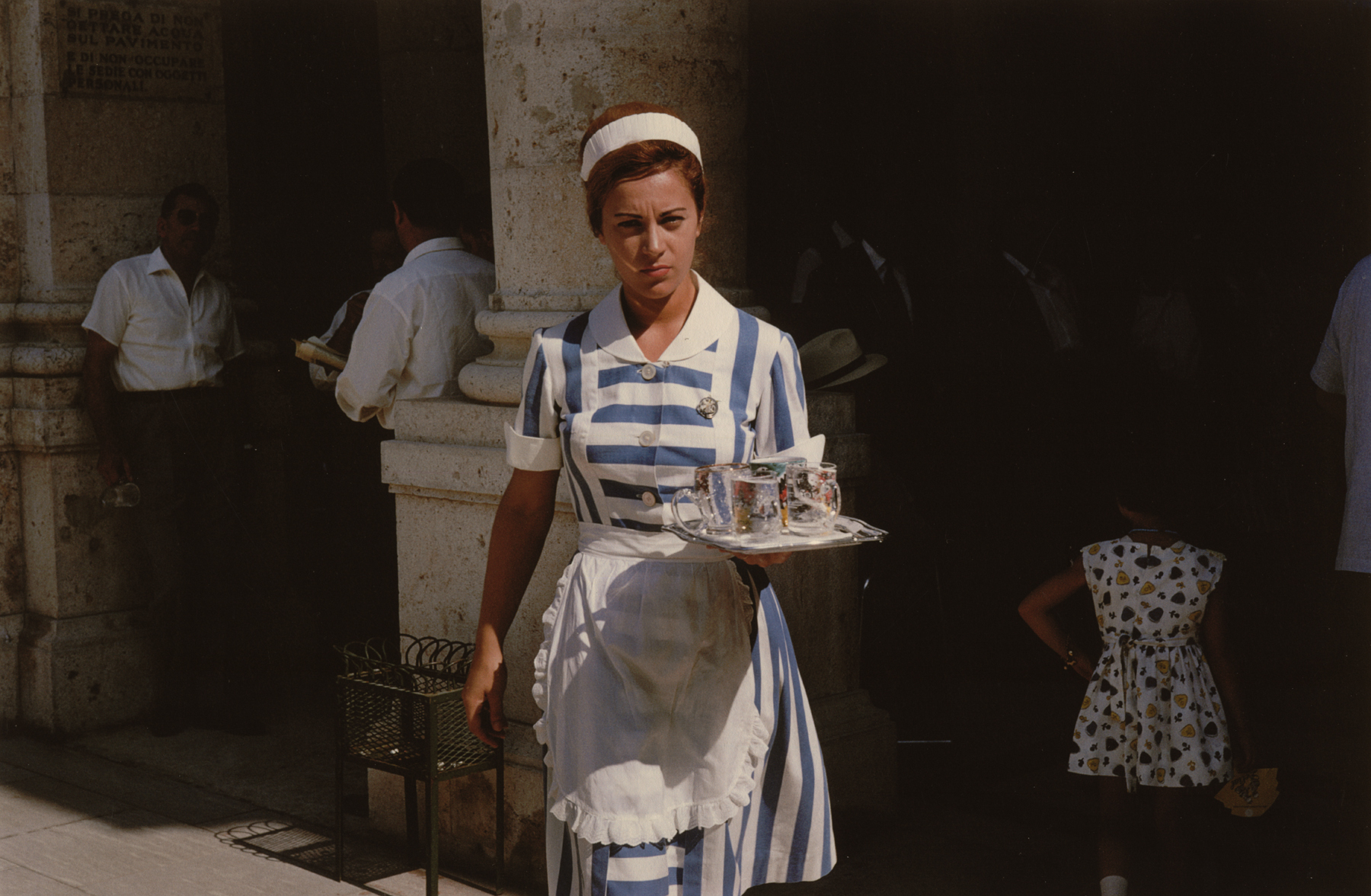A French Waitress, Paris, 1961 by Stanley Marcus