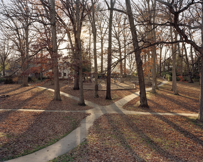 Jason Reblando - Meeting Paths, Greenbelt, Maryland, from the series New Deal Utopias