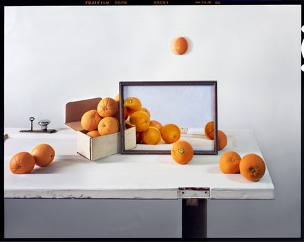 Chervinsky-Oranges, Box & Painting on Door 2011