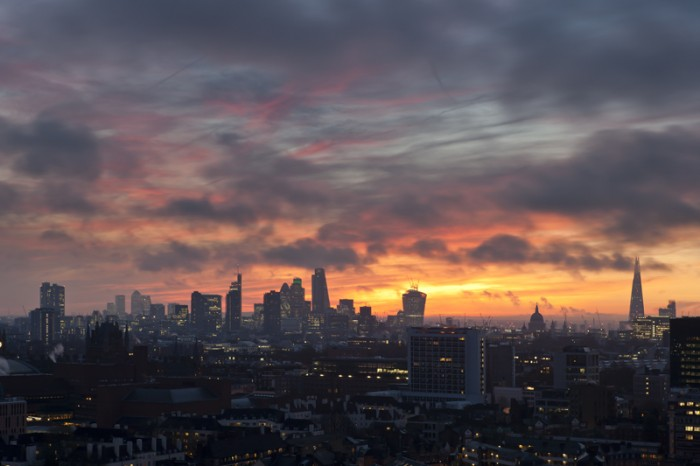 James Burns_London from the Rooftops_December Dawn