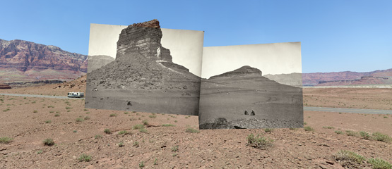 Rock formations on the road to Lee's Ferry, AZ, 2008 © Mark Klett and Byron Wolfe Digital inkjet print Courtesy of the artists
