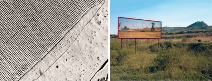 Jananne Al Ani, Aerial V (2011) and Corinne Silva, Imported Landscapes (2010)