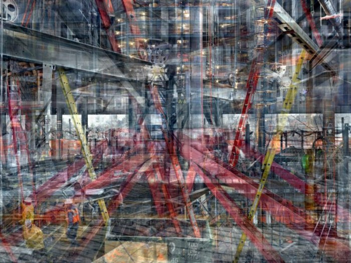 "Shai Kremer, World Trade Center: Concrete Abstract #13, 2001-2013, 48 x 64"", pigment print, ed. 7"