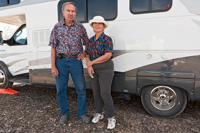Jerry and Ann. Full-timers. Quartzsite, AZ