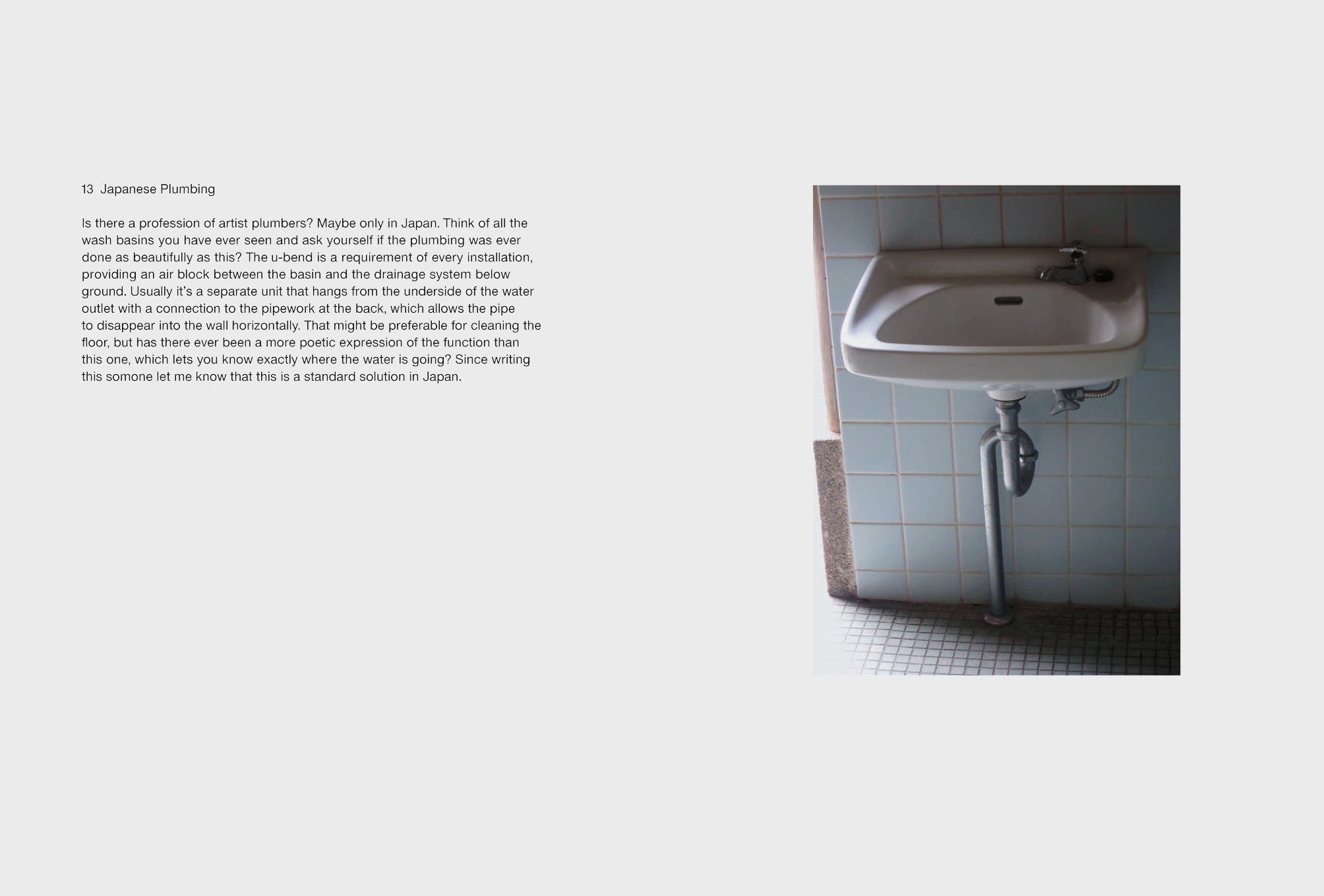 Japanese Plumbing Copyright@Jasper Morrison, The Good Life, Lars Müller Publishers, 2014