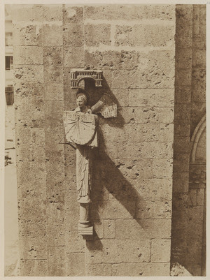 Henri Le Secq, Angel with sundial, 1852 Coated salt print from a paper negative, 32.9 x 24.1 cm