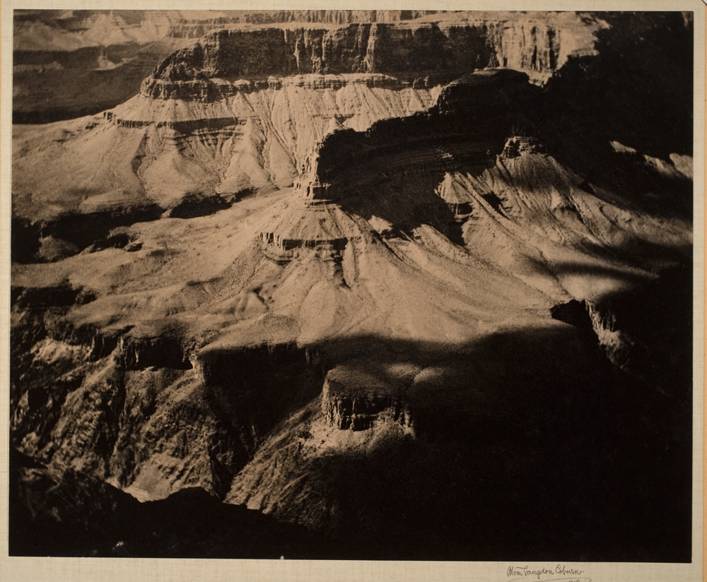 Alvin Langdon Coburn. The Amphitheatre, Grand Canon, 1912 ©Alvin Langdon Coburn.  Courtesy of George Eastman House, International Museum of Photography and Film
