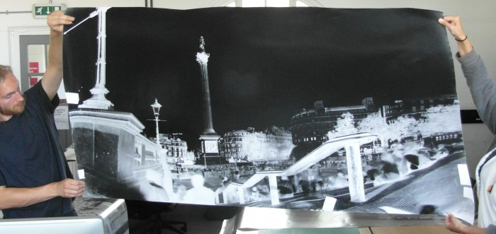 Nelsons column Negative