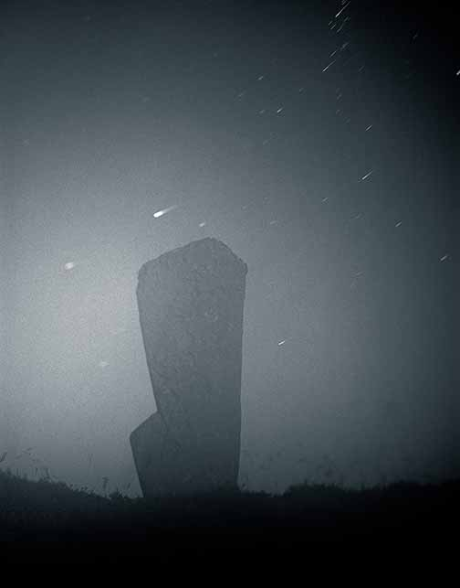 Ring of Brodgar Stone-Moonlight, Orkney, Scotland, 2003