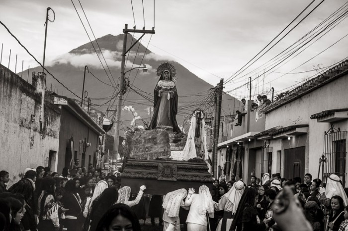 Virgin Mary and Volcan Agua