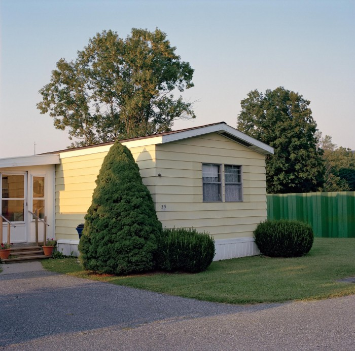 A well-manicured mobile home in Dover Plains, NY.
