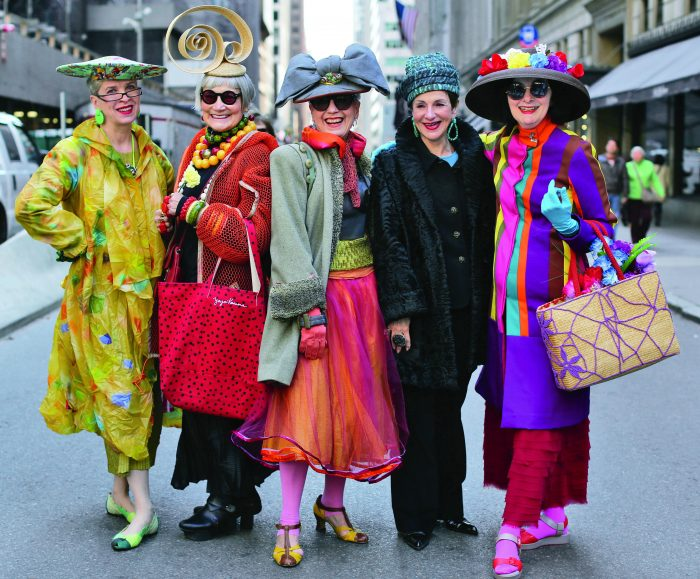 pg162 Valerie and Jean (The Idiosyncratic Fashionistas), Debra Rapoport, Diana Gabriel, and Carol Markel NY, NY