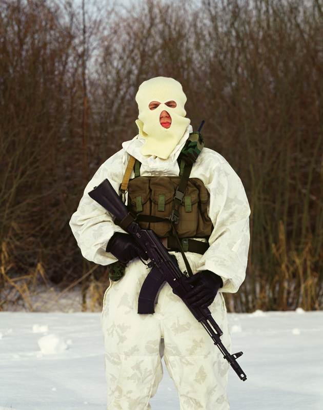 Man in Mask, combatant of the Alpha group, an elite Russian counter-terrorism unit. Maria Gruzdeva/Schilt Publishing